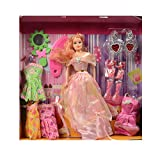 #10: Pretty Girl Fashionista Doll With Dresses & Accessories