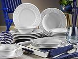 Mitterteich SV24Y200 Silvia - Servizio di piatti in porcellana, 24 pezzi, colore: Bianco