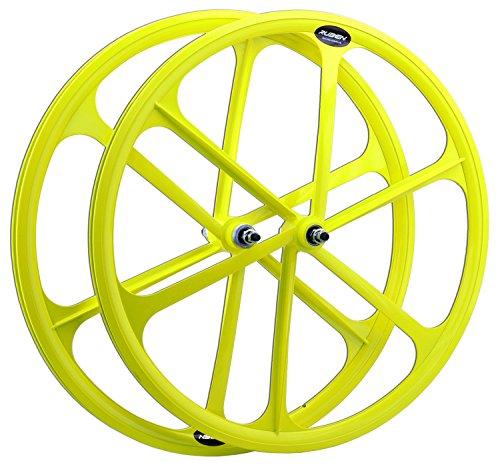 Rad hinten fest StraàŸe City festes Ritzel 700c Farben fluoreszierent -