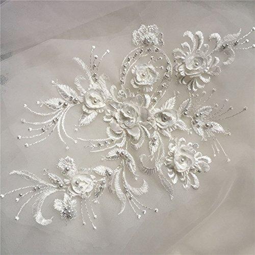 Selene 3d-Stickerei Lace-Motiv für Tanz Kostüm Braut-Kleid Hochzeitskleid mit Perlen,...