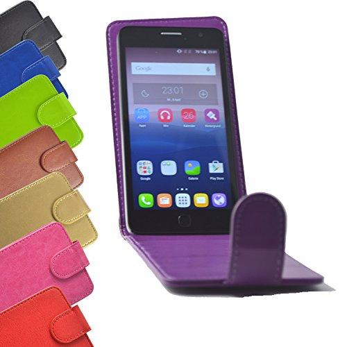 Flip 2 in 1 set Tasche für Fairphone 2 Smartphone Slide Kleber Hülle Case Cover Schutz Bumper Etui Handyhülle in Lila (Slide Smartphone)