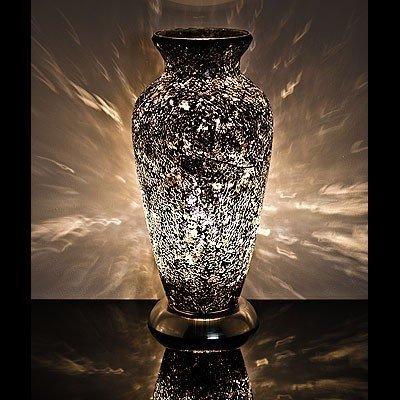 Mosaic Glass Vase Lamp - Black