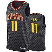 Camiseta de Baloncesto de Trae Young para Hombre, Camiseta sin Mangas de Atlanta Hawks # 11 Camiseta de Baloncesto de Bordado de Malla Top Deportivo Casual absorción de Sudor Fuerte Limpieza repetibl