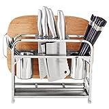 LJF Edelstahl Schneidebrett Rack, Küche Multifunktions Gemüseschneider Wandhalterung Stand Abfluss Rack Löffel Rack 30 * 15,5 * 36,5 cm Viele Anwendungen (größe : 30 * 15.5 * 36.5cm)