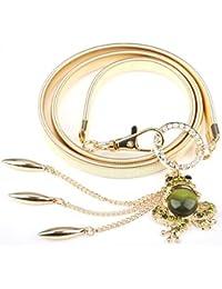 Cinderella Golden Stretchable Waist Belt for Women and Girls(Golden)(7306wb)