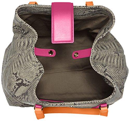 Cavalli Large Shopping Bag Luxe Cruise 003, shoppers Multicolore - Mehrfarbig (Fuxia/Orange B78)