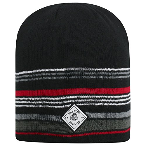 Top of the World Uncuffed Knit Avenue Weihnachtsstrumpf Stretch Socke Hat Cap Beanie, Multi, Uncuffed Knit (Damen Ohio State Hat)
