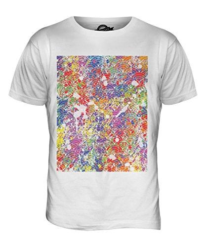 CandyMix Farbe Splatter Herren T Shirt Weiß