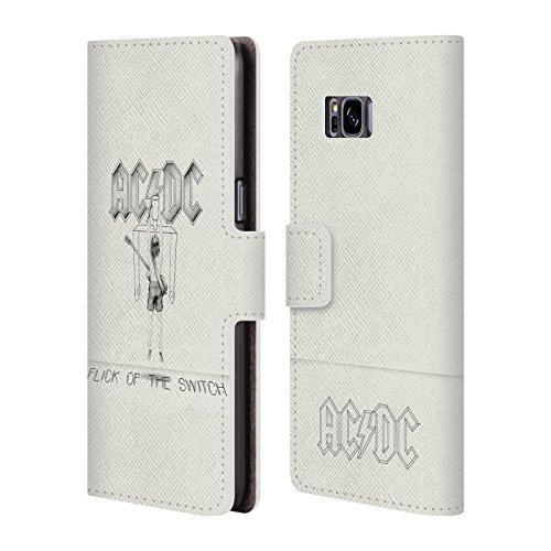 Offizielle AC/DC ACDC Flick Of The Switch Albumcover Brieftasche Handyhülle aus Leder für Samsung Galaxy S8