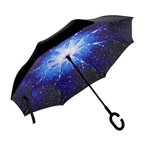 Regenschirm windsicher wasserabweisende auto regenschirmständer Frei Hände Rückwärts Double Layer Regenschirme automatisch öffnet und schließt