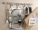 Mena Home/Appendiabiti per ripostiglio per Cucina Racchetti per ripostiglio per ripostiglio (Stile : D)