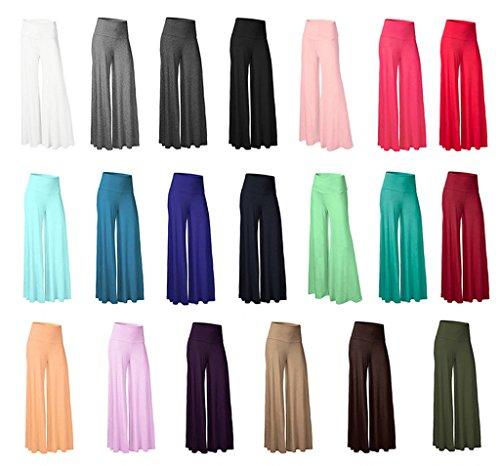 Smile YKK Pantalon Evasée Femme Large Jambe Pantalons Longues Grande Taille Sport Yoga Jogging Violet