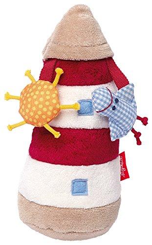 Preisvergleich Produktbild sigikid, Mädchen und Jungen, Greifling und Rassel Leuchtturm, Toy Ahoi, Beige/Rot, 40980