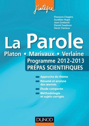 La parole - Programme 2012-2013 - Prépa...