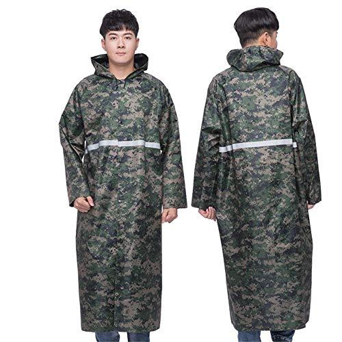 ddmlj Einteilige Regenmantel Jacke Weibliche Erwachsene Wandern Persönlichkeit Männer Wasserdicht Und Wasserdicht-5_L