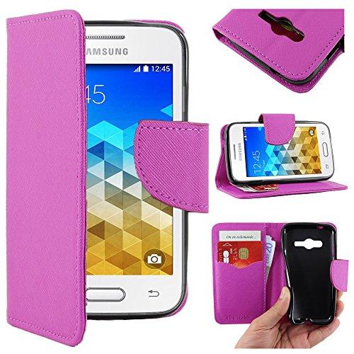 ebestStar - Compatibile Cover Samsung Galaxy Trend 2 Lite SM-G318H, Galaxy V Plus Custodia Portafoglio Pelle PU Protezione Libro Flip, Viola [Apparecchio: 121.4 x 62.9 x 10.7mm, 4.0'']