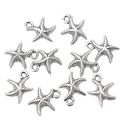 10Pcs Starfish Design Charms Pendants Personalised Jewelry Making Findings Craft DIY