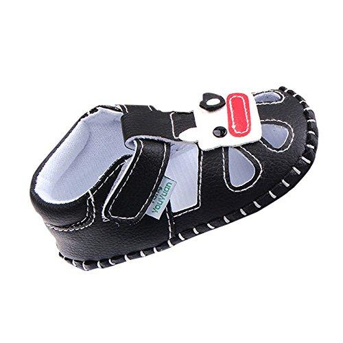 Longra sandali del bambino piatti Nero