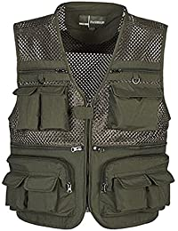 MagiDeal Multi Pocket Photography Fishing Mesh Vest Outdoor Hunting Travel Quick-Dry Jacket Waistcoat - 5 Sizes 2 Colors