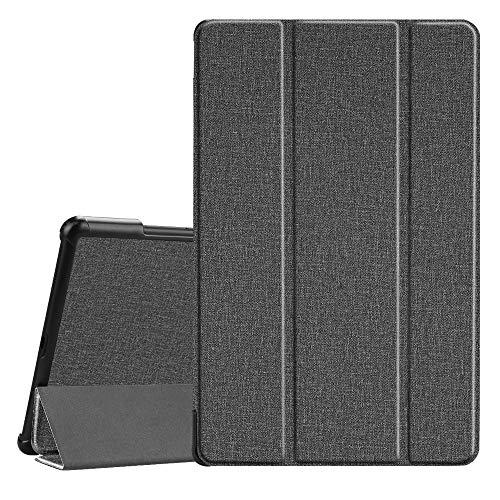 Fintie Hülle für Samsung Galaxy Tab A 10.5 2018 - Ultra Schlank Superleicht Schutzhülle mit Auto Schlaf/Wach Funktion für Galaxy Tab A SM-T590/T595 10.5 Zoll Tablet-PC, Jeansoptik dunkelgrau