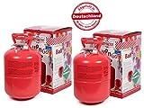 Party Factory 2 STK. Heliumgasflasche Heliumgas für ca. 100 Ballons Helium Flasche Gasflasche Balloon Gas Ballongas Einweg +