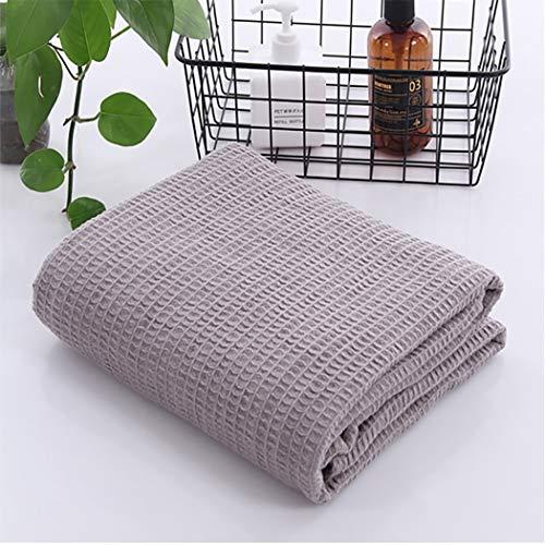 LHFJ Waffel-Webart-Decke 100% Baumwolle Sommer dünne Decke atmungsaktiv gemütliche Baumwolle Thermo-Decke Komfort Mittagspause Decke für Bett & Couch/Sofa, 41 '' * 59 '',Gray -