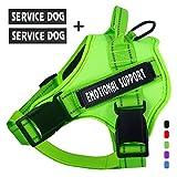 voopet Service Hundegeschirr, kein Ziehen, Emotionale Unterstützung, Haustier-Weste, reflektierend, atmungsaktiv und verstellbar, für kleine, mittelgroße und große...