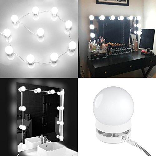 YY-LC LC178 Hollywood Spiegel Beleuchtung mit Dimmer Schalter,Verstecken Kann und Die Drähte Ersetzen,Schminktisch Leuchte...