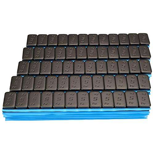 50 SCHWARZE Auswuchtgewichte 12x5g Klebegewichte Stahlgewichte Kleberiegel