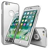 iPhone 6 / 6s Plus Premium Mirror Spiegel Fullbody Hülle 360 Grad, Fullcover Schutzhülle, Case + 1x Panzerglas [ Silber/Silver ]
