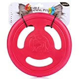 ZNOKA Three-hole Frisbee, Pets Toy Flying Disc EVA Flyer for Dog Puppy Play New Pet Outdoor Disc Toys (Red)
