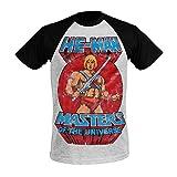 Photo de Maîtres de l'univers T-Shirt Homme He-Man Pose Coton Gris Noir par Masters of the Universe