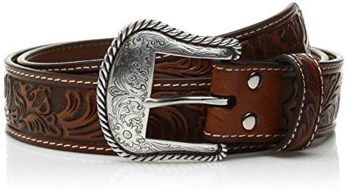 Nocona USA Western Gürtel floral tooled Cowboy Cowgirl (34) (Nocona Cowboy Gürtel)