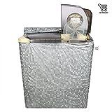 E-Retailer Classic Silver Colour With Square Design Semi-Automatic Washing Machine Cover Upto 7 Kg Capacity