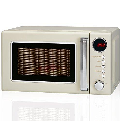 Microondas grill 20 litros retro estilo vintage, 700/1000W