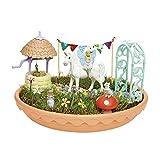 TOMY My Fairy Garden Spielzeugset - Magischer Einhorn-Garten für Kinder ab 4 Jahre zum selber Pflanzen & Spielen, 1 x Set Einhorn Garten inkl. Grassamen von TOMY