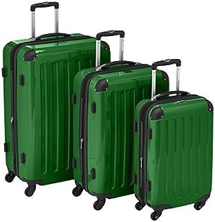 HAUPTSTADTKOFFER® · Three-Piece Hard-Side Suitcase Set Green high Gloss · Cabin Luggage 45 Liter (55 x 35 x 20 cm) + Suitcase 87 Liter (63 x 42 x 28 cm) + Suitcase 130 Liter (75 x 52 x 32 cm) (B007AJQQV6) | Amazon price tracker / tracking, Amazon price history charts, Amazon price watches, Amazon price drop alerts