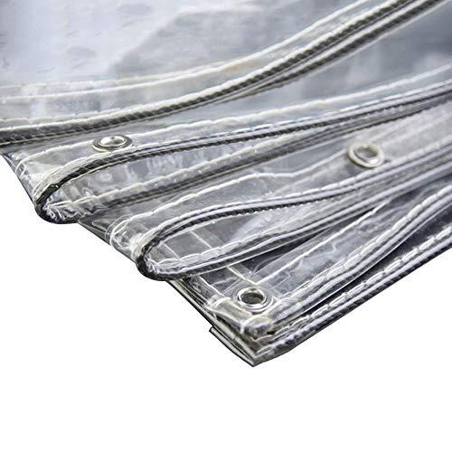 Abdeckplanen wasserdichte durchsichtige Falle mit Durchführungstülle, verdickte PVC-Hochleistungsplane für Gewächshaus & Poolabdeckung (Color : 0.3mm, Size : 1.9×2.1m)