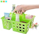 #4: KBF Plastic Storage Basket Organizer with Handle for Bathroom Kitchen Home Office Tidy Box
