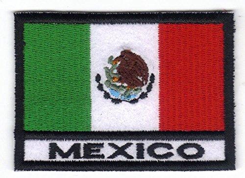 Patch Bandera MÉXICO cm 7x 5Parche Bordado Bordado