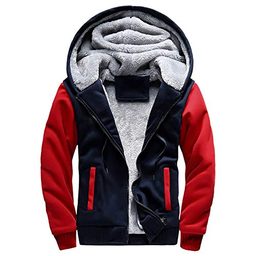 (Oliviavan,Sale Casual Sweatshirt Kapuzenpullover Blank Hoodie Männer Sweatshirt Herren M-5XL Hoodie Winter warme Fleece Zipper Jacke Outwear Mantel)