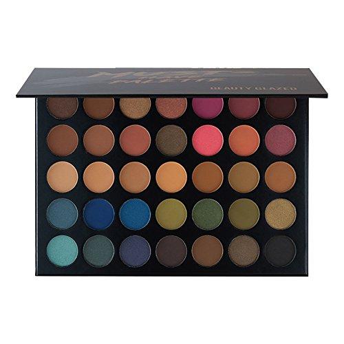 35 Colour Eyeshadow Palette OYOTRIC Waterproof Makeup Matte Nudes Shimmer Eye Shadows Palette Set (Base Shadow Eye Cream)