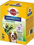 Pedigree DentaStix Daily Fresh Zahnpflegesnack für mittelgroße Hunde - Hundeleckerli mit Aktivwirkstoffen für jeden Tag - Für gesunde Zähne und einen frischen Atem - 112 Sticks (4 x 28 Stück)
