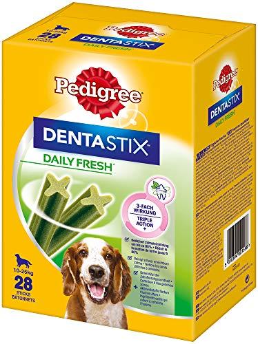 Pedigree Hundesnacks Hundeleckerli Dentastix Daily Fresh Zahnpflege, 4er Pack (4 x 28 - Pedigree Dentastix