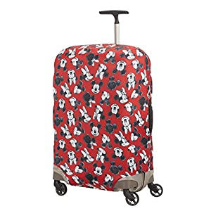 Samsonite Global Travel Accessories Disney Lycra Luggage Cover M, Red (Mickey/Minnie Red)