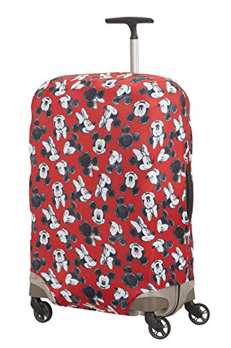 Samsonite global travel accessories disney - coperture in lycra per valigia, m, rosso (mickey/minnie red)