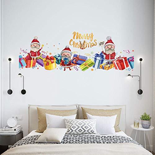 Wandaufkleber Wandaufkleber Weihnachten Wandaufkleber Vinyl Kunst Aufkleber DIY Wohnzimmer TV Wanddekoration Wandaufkleber Wandbild