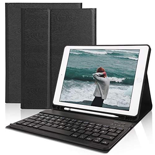 Tastatur Hülle 9.7 für iPad 2018 (6th Gen)- iPad 2017 (5th Gen)- iPad Pro 9.7- iPad Air 2 & 1- Wireless Bluetooth Tastatur [QWERTZ Deutsches]- Stifthalter- Magnetisch Schlaf/Wach, ipad Tastatur Hülle