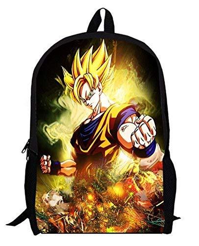 yoyoshome Dragon Ball Z Anime Goku Cosplay Schultasche Rucksack Rucksack Schultasche Schwarz Dragon ()