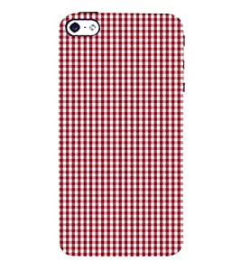 Small Red Checks 3D Hard Polycarbonate Designer Back Case Cover for Apple iPhone SE